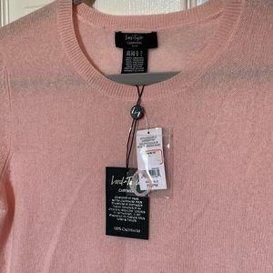 Brand new Pink Cashmere Sweater